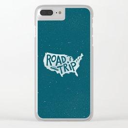 Road Trip USA - reverse Clear iPhone Case