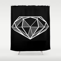 diamond Shower Curtains featuring Diamond by stephanie nichole
