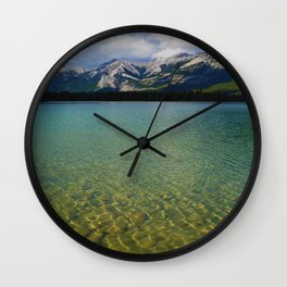 The Collin Range as seen from Lake Edith in Jasper National Park Wall Clock