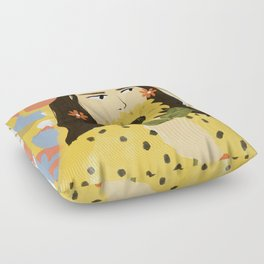Sunflowers In Your Face Floor Pillow