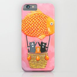 The Cats Whimsical Adventure iPhone Case