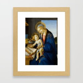 The Virgin and Child by Sandro Botticelli Framed Art Print
