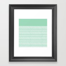 Herringbone Mint Boarder Framed Art Print