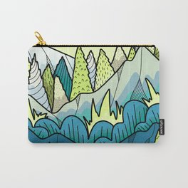 The blue and green hills Carry-All Pouch