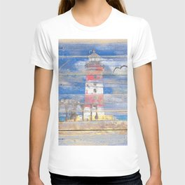 Lighthouse with Seagulls A343 T-shirt