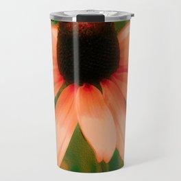 Vibrant Orange Coneflower Travel Mug
