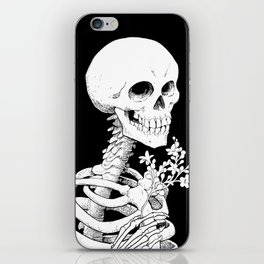 Skeleton & Flowers iPhone Skin