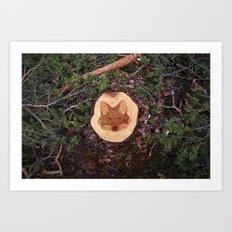 Deforestation Faces - Fox Art Print