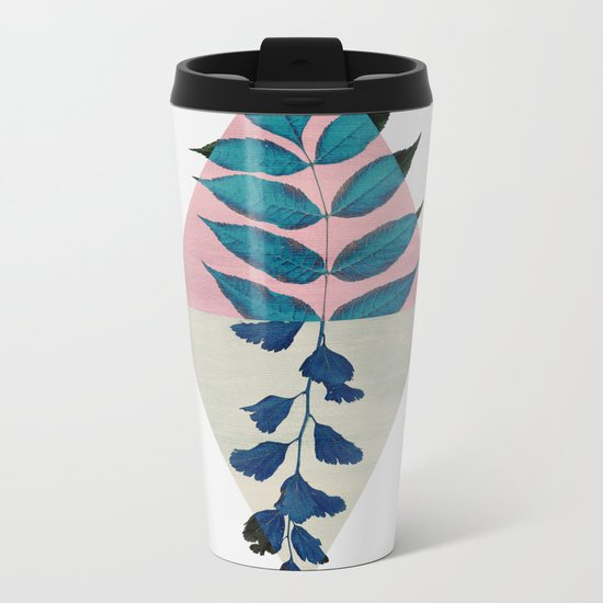 Geometry and Nature I Metal Travel Mug