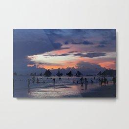 Sunset Beach (Boracay, Philippines) Metal Print