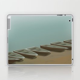 Boats on the shore Laptop & iPad Skin
