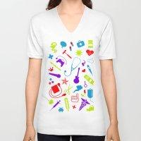 nurse V-neck T-shirts featuring Cool Nurse by emodist