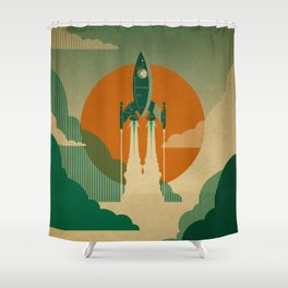 The Voyage (Green) Shower Curtain
