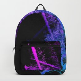 Colorful Abstract Brushstrokes on Black Background Backpack