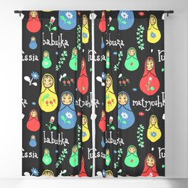 Traditional russian dolls Blackout Curtain