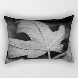 Black and White Leaf Rectangular Pillow