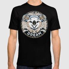 Dream LARGE Mens Fitted Tee Black