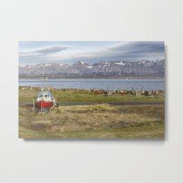 The Icelandic Boatyard Metal Print
