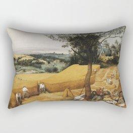 Pieter Bruegel The Elder - The Harvesters Rectangular Pillow