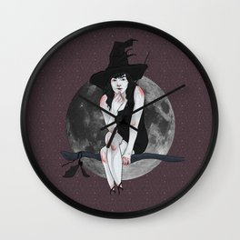 natasha the vampire witch Wall Clock