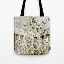 Crystal Pearls Chandelier Paris Tote Bag