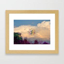 Trees Clouds Om Framed Art Print