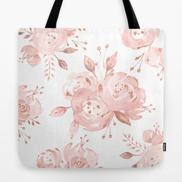 Roses Rose Gold Glitter Pink by Nature Magick Tote Bag
