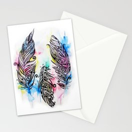 Koru Feathers  Stationery Cards