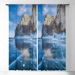 Blue Ice of the Lake Baikal Blackout Curtain