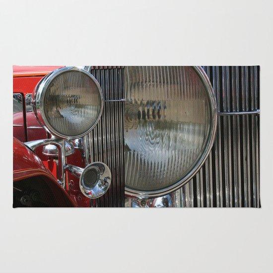 Vintage Car Headlight & Horn Rug By Andrea Jean Clausen