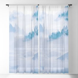 Mountain Wolves Sheer Curtain