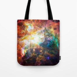 The Cat Galaxy Tote Bag