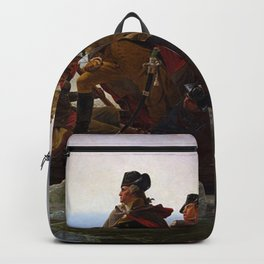 George Washington Crossing Of The Delaware River Painting Backpack