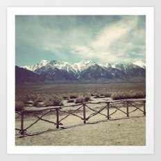 Eastern Sierras from Manzanar Art Print