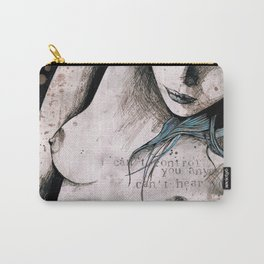 Rotten Apple (nude topless girl, erotic graffiti portrait) Carry-All Pouch