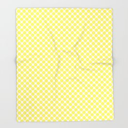 Yellow Lemon Fruit Slices Pattern Throw Blanket