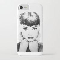 hepburn iPhone & iPod Cases featuring Hepburn by Aoife Rooney Art