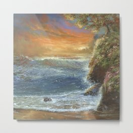 Sunsest Sea Metal Print