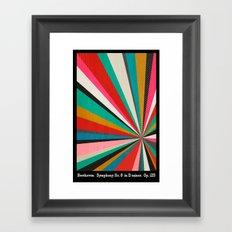 Beethoven - Symphony No. 9 - Original Version Framed Art Print