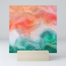 """Coral sand beach and tropical turquoise sea"" Mini Art Print"