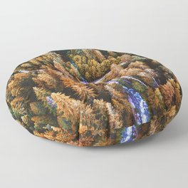 forest aerial view in yosemite Floor Pillow