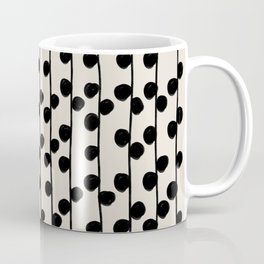 Dots / Black & White Pattern Coffee Mug