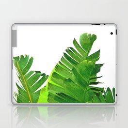 Palm banana leaves tropical watercolor illustration Laptop & iPad Skin