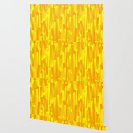 Geometric Yellow Gold Painting Wallpaper