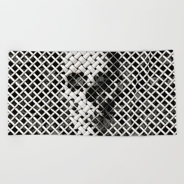 Wicker Skull Beach Towel