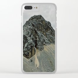 Dark rocky mountain Clear iPhone Case
