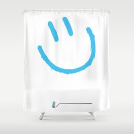 Street Art Happy Face Shower Curtain
