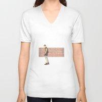 bucky barnes V-neck T-shirts featuring Bucky Barnes punk by maria euphemia