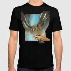Eagle's Wings Mens Fitted Tee Black MEDIUM