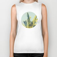 palm tree Biker Tanks featuring Palm by Esther Ní Dhonnacha